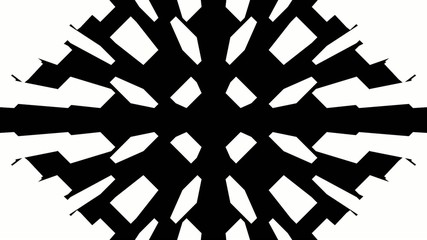 Black and white rectangles rotating in 3D pyramid