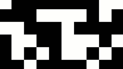 Black and white shifting squares