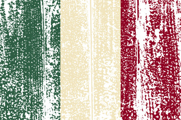 Italian grunge flag. Vector illustration