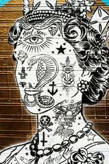 Graffiti Royal tattoo face