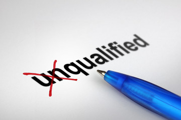 Changing the meaning of word. Unqualified into Qualified.