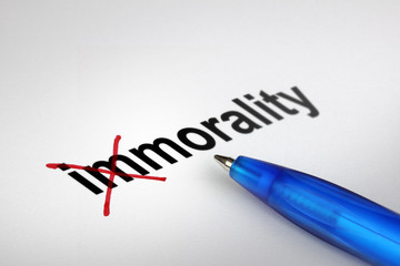 Changing the meaning of word. Immorality into Morality.