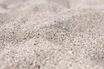 Warm sea shore's sand of Greece