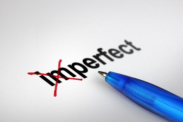 Changing the meaning of word. Imperfect into Perfect.