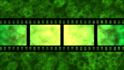 Movie Film Particle Background Animation - Loop Green