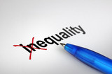 Changing the meaning of word. Inequality into Equality. poster
