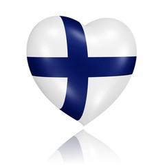 Herz in den Farben der Flagge Finnlands