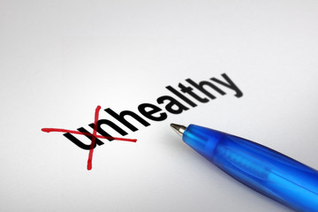 Changing the meaning of word. Unhealthy into Healthy.