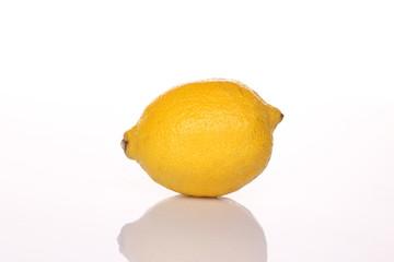 yellow lemon with shadow