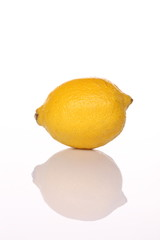 yellow lemon with shadow