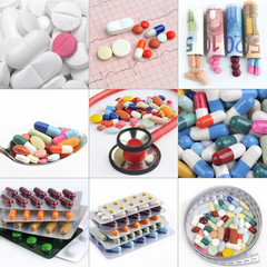 assortment of pills, capsules and tablets variety
