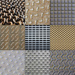Collage metal textures background