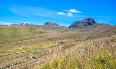 Beautiful scene of the Ecuadorian Andes