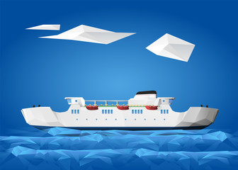 Ship - Ferry at sea