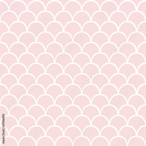 Cotton fabric Pink seamless vector pattern.