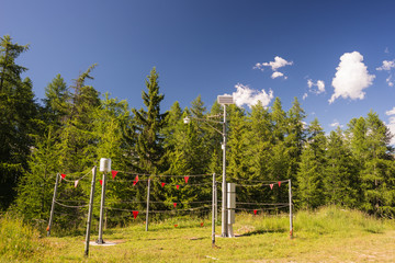 Alpine weather station
