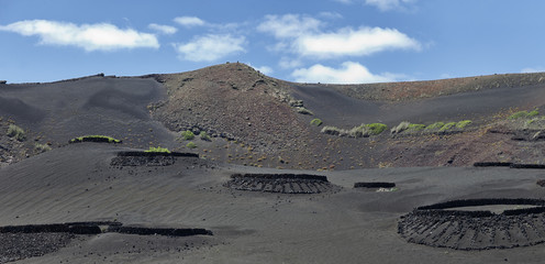 Lunar landscape in the Timanfaya national park.Lanzarote.