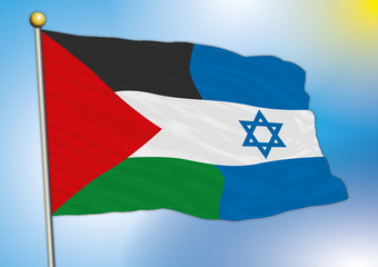 palestine israel mix fantasy flags