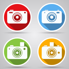Photo camera vector icons