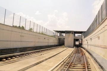 rails of the subway