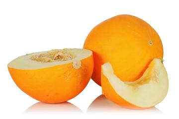 Mature juicy melon.