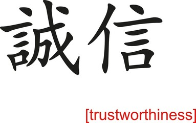 Chinese Sign for trustworthiness