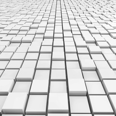 Cubes Background - 3d Render