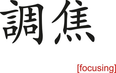 Chinese Sign for focusing
