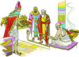 Faraón ante el cual se presentó Moisés