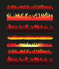 Abstract Fire Frame and Border Line Collection