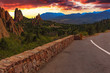 Sunset Image of the Garden of the Gods. - 67850254
