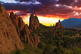 Sunset Image of the Garden of the Gods.