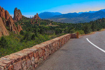 Landscape Image of the Garden of the Gods.