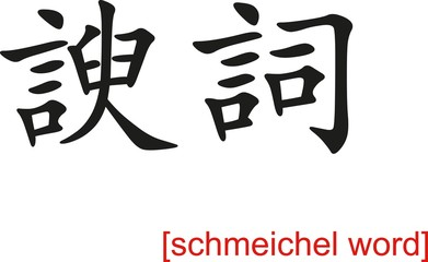 Chinese Sign for schmeichel word