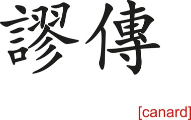 Chinese Sign for canard