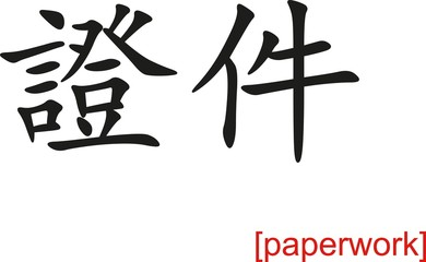 Chinese Sign for paperwork