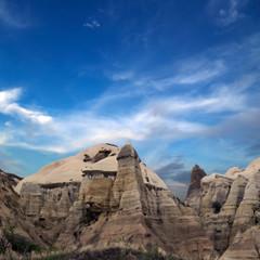 rock landscape at Cappadocia Turkey