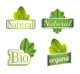 Eco Bio Natural  Organic Icon Set