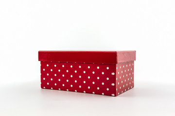 Red polka dots box.