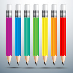 colorful pencil set vector illustration