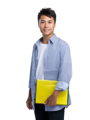 Young man with folder