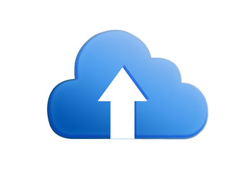 Blue Cloud ; Cloud computing concept.
