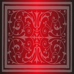 Red Floral Luxury Ornamental Pattern Background
