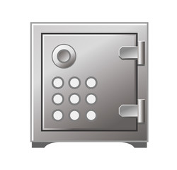 Safe Box Icon Vector Iron Stainless