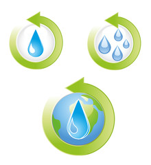 Save Water Icons Vector Illustration