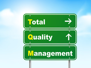 3d total quality management road sign