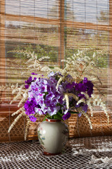 phlox bouquet mood still life