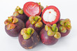 Fresh Mangosteen thai fruit isolated on white background