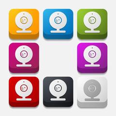 square button: webcam