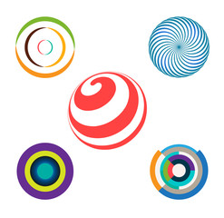Set of Abstract Colorful Circles Vector